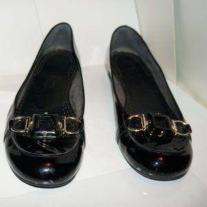 Stuart Weitzman Black Patent Loafers 8.5